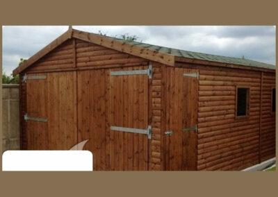 Montazne garaze - garaze od drveta - drvene garaze